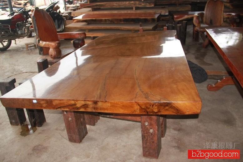 泽康根雕b12茶几 根雕茶具 大板 家居用品 根雕礼品厂家