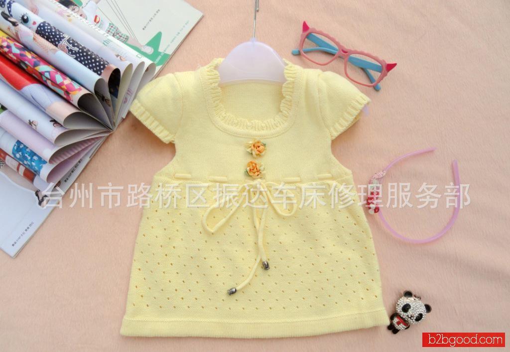 2013新款儿童毛衣宝宝毛衣背心女童裙式马甲外套婴儿背心