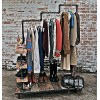 French iron pipe clothing display rack post industrial luxury clothing hanger LOFT