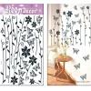 3D التصميم الإبداعي idof10 ييوو سلسلة من طبقات ثلاثية الأبعاد ملصقات الحائط زهرة الفراشة