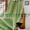 Minimalist art fan flounced skirt slant pockets cotton fabric