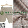 Casual fashion British style pure linen yarn dyed plaid pants seven fabric