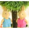 1732 [Special] wear suspenders rabbit cute cartoon rubber eraser