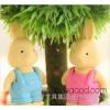 [9094] wear suspenders rabbit cute cartoon rubber eraser