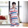 xiwu تانغ العلامة التجارية الملابس تأثيث المنزل طية صدر السترة زر الرجال القطن بيجامة مجموعة مفتوحة