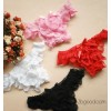 #607 black real photographs briefs Ladies Sexy Lace Bow thong split T