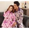The production of high-grade wholesale flannel pajamas pajamas pajamas couple couples are simple Hom