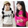 ملابس الأطفال أكمام طويلة سترة فتاة تي في الربيع و الخريف الكورية الجديدة التجارة الخارجية المد ستر