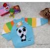 Autumn Korean cartoon panda selling children's clothing foreign trade knitwear